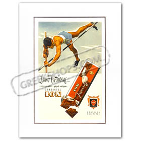 Vintage Greek Advertising Posters - ION Chocolates (1958)