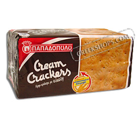 Papadopoulos Greek Cream Crackers with Rye 175g