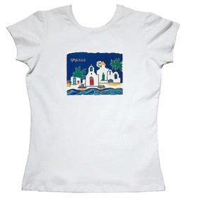 Greeek Islands Womens Tshirt Style 105b