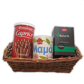 Limited Edition Mother's Day Gift Basket w/ Mug and Greek treats