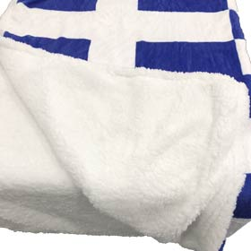 Greek Flag Cotton Flannel Throw - Blanket 50x60in Free US Shipping