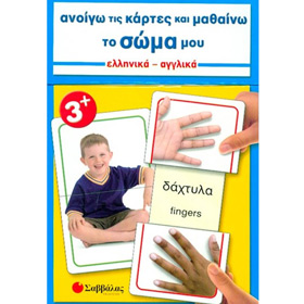 Anoigo tis kartes kai Mathaino to Soma mou, Body parts in Greek Flashcards