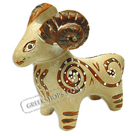 Terracota Minoan Ram Replica, 1550 BC, National Archaelogican museum of Athens