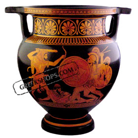 Red Figure Krater Hgt. 30 cm
