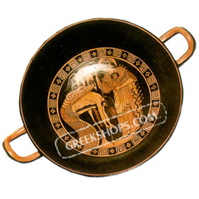 Red Figure Kylix ( wine cup ) 20 cm