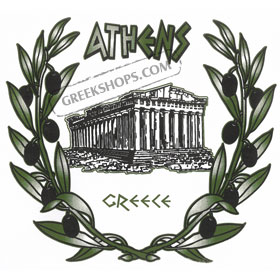 Olive Branches and Parthenon Tshirt 10020