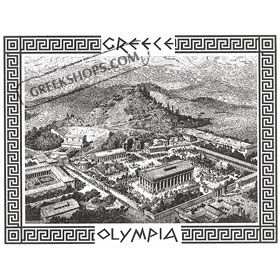 Ancient Olympia Lithography Tshirt 342