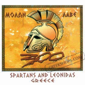 Spartans and Leonidas 300 Tshirt Style D84A