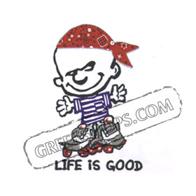 LIFE IS GOOD Greece Children's Tshirt 626B