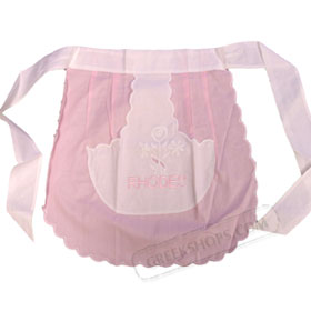 Greek Apron  Rhodes Pink