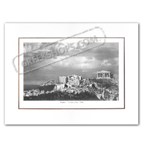 Vintage Greek City Photos Attica - City of Athens, Acropolis view (1950)