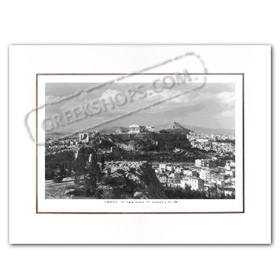 Vintage Greek City Photos Attica - City of Athens, Athens and Acropolis City view (1950)