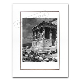Vintage Greek City Photos Attica - City of Athens, Erechtheion - Kariatides (1920)