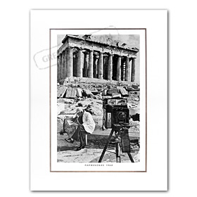 Vintage Greek City Photos Attica - Attica, City of Athens, Parthenon (1964)