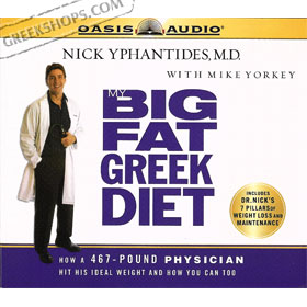 My Big Fat Greek Diet : Audio Book (5CDs) by Nick Yphatides, M.D. 50% Off