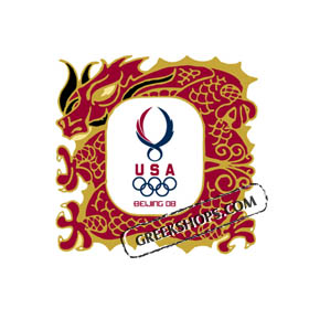 USOC Beijing USA Limited Edition House Pin Dragon USC-1223