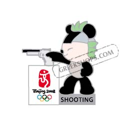 Beijing 2008 Jingjing Shooting Olympic Sports Pin