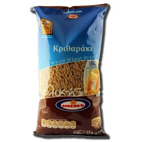 Helios Whole Wheat Greek Orzo Pasta, 500 gr