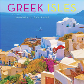 Greek Islands 2018, Mini Wall 16 month Calendar