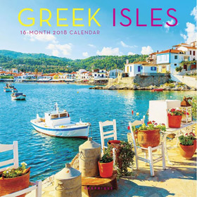 Greek Islands 2018, 16 month Wall Calendar