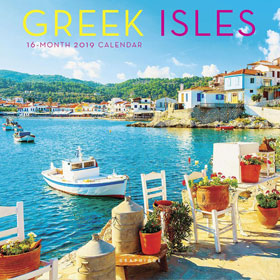 Greek Islands 2019, Mini Wall 16 month Calendar