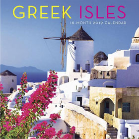 Greek Islands 2019, 16 month Wall Calendar