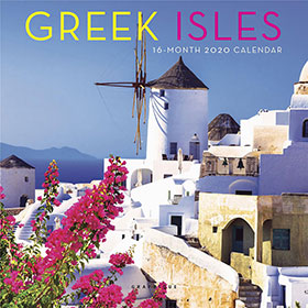 Greek Islands 2020, Mini Wall 16 month Calendar