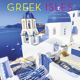 Greek Islands 2020, 16 month Wall Calendar