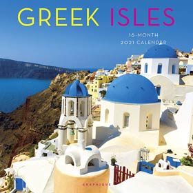Greek Islands 2021, 16 month Wall Calendar