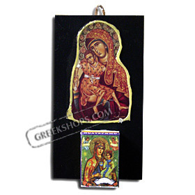 Virgin Mary Wall Calendar Holder with 2012 Refill