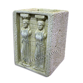 "Molivothiki Caryatides Pencil Holder - 10cm (3.9"")  (Clearance 40% Off)"