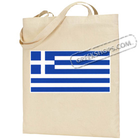 Canvas Tote Bag with Greek Flag