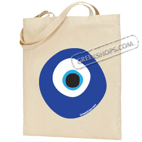 Canvas Tote Bag with Mati Evil Eye