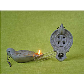 Ceramic Olive Oil Lamp -  Peter 01CH12