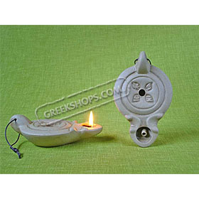 Ceramic Olive Oil Lamp - Jerusalem 01CH1