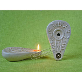 Ceramic Olive Oil Lamp - Bethlehem 01CH3
