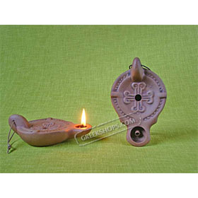 Ceramic Olive Oil Lamp - Jericho 01CH4