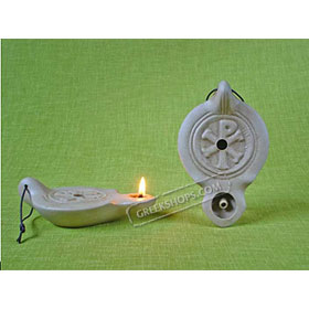 Ceramic Olive Oil Lamp - Tabor 01CH5