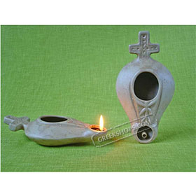 Ceramic Olive Oil Lamp - Mark 01CH8