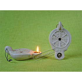 Ceramic Olive Oil Lamp - Matthew 01CH9