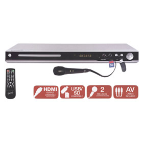SuperSonic 5.1 Channel Multi Region DVD Player w/ USB/SD Card Slots, HDMI Compatible, SC-31