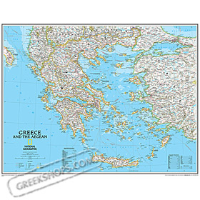 GreekShopscom Greek Products Maps of Greece National