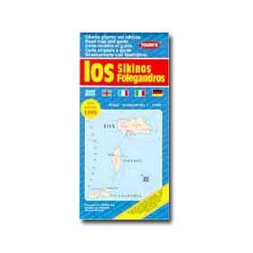 Road Map of Ios - Sikinos Folegandros Special 50% off
