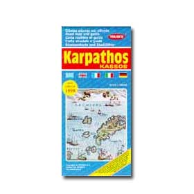 Road Map of Karpathos - Kassos Special 50% off