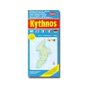 Road Map of Kythnos Special 50% off