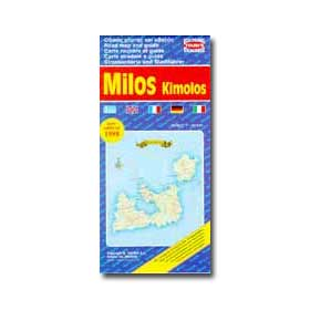 Road Map of Milos - Kimolos Special 50% off