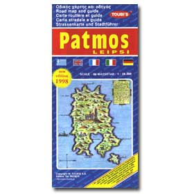 Road Map of Patmos - Leipsi Special 50% off