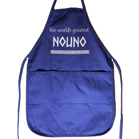 "Nouno Apron for GodFathers, 20"" x 20"" with pockets"