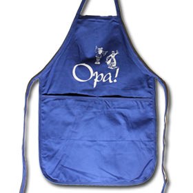 "Opa Full Apron, 20"" x 20"" with pockets"