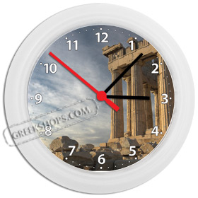 Greek Time - Parthenon South View Wall Clock